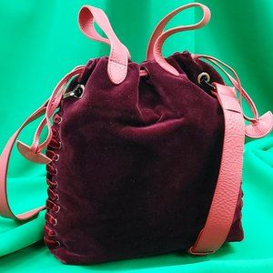Meli Melo Santina Mini Velvet Bucket Bag